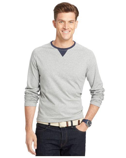 Izod big and tall raglan crew neck long sleeve t shirt in for Izod big and tall shirts