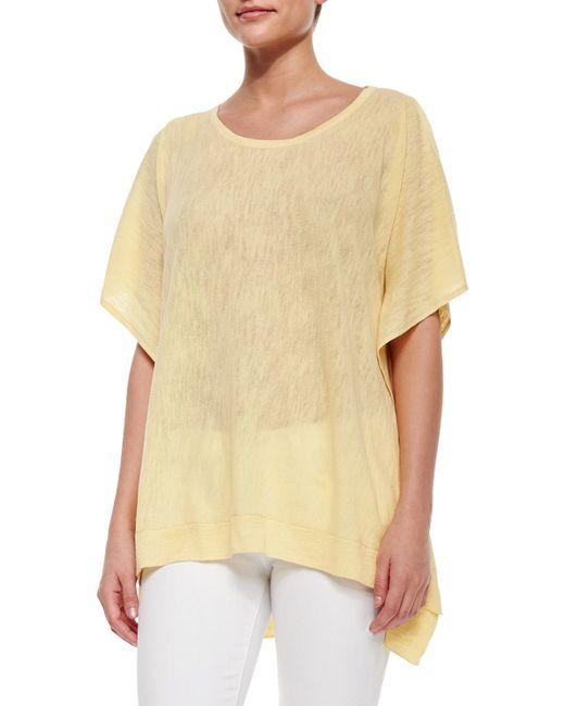 Belford | Yellow Cold-shoulder Linen-blend Pullover | Lyst