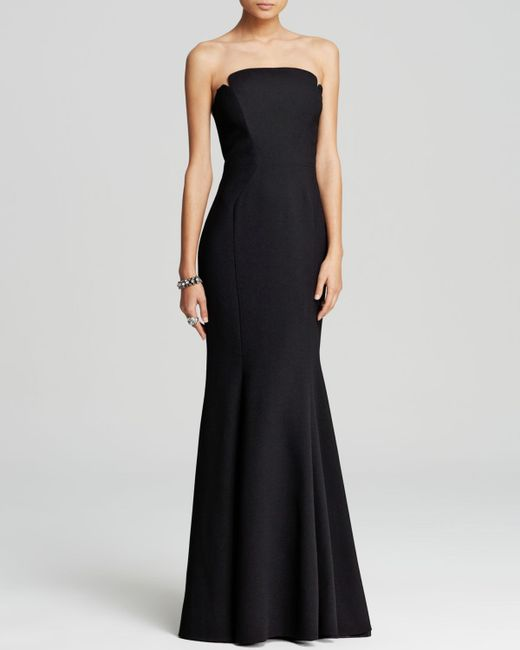 JILL Jill Stuart | Black Strapless Mermaid Gown | Lyst