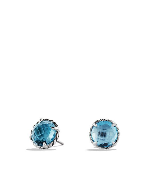 David Yurman | Chatelaine Earrings With Blue Topaz | Lyst