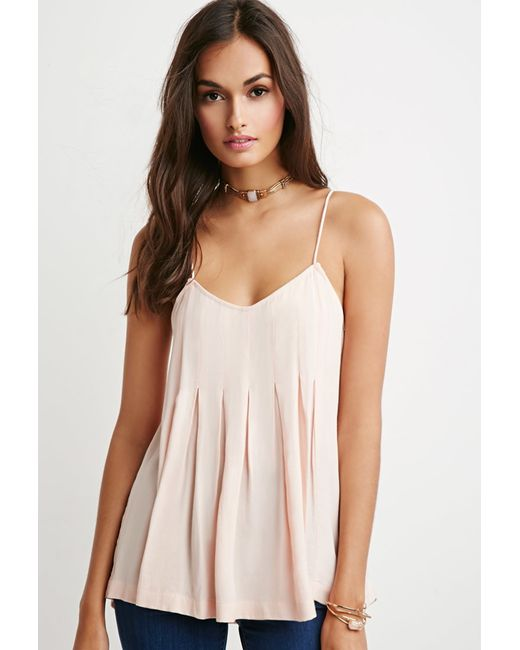 Forever 21 | Pink Pleated Trapeze Cami | Lyst