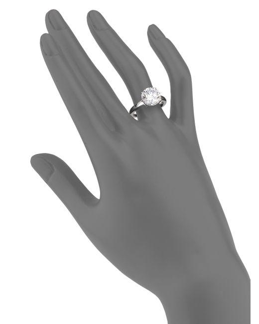 Adriana Orsini   Metallic Sterling Silver Brilliant-cut Ring   Lyst