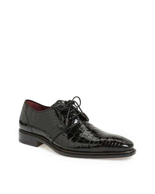 Mezlan | Black 'marini' Alligator Leather Derby for Men | Lyst