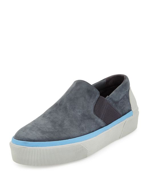 Lanvin Suede Skate Sneakers In Gray For Men Dark Grey Lyst