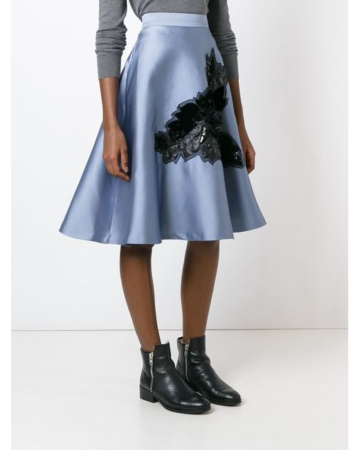 p a r o s h sequin appliqu 233 a line skirt in blue save
