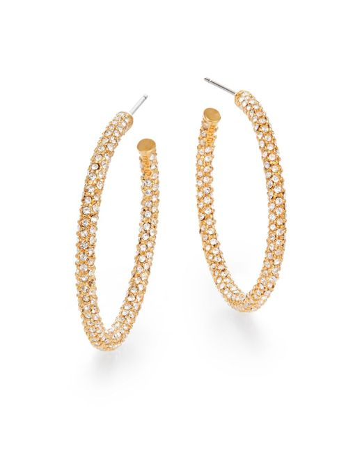 Adriana Orsini | Metallic Pavà Hoop Earrings/1.25"