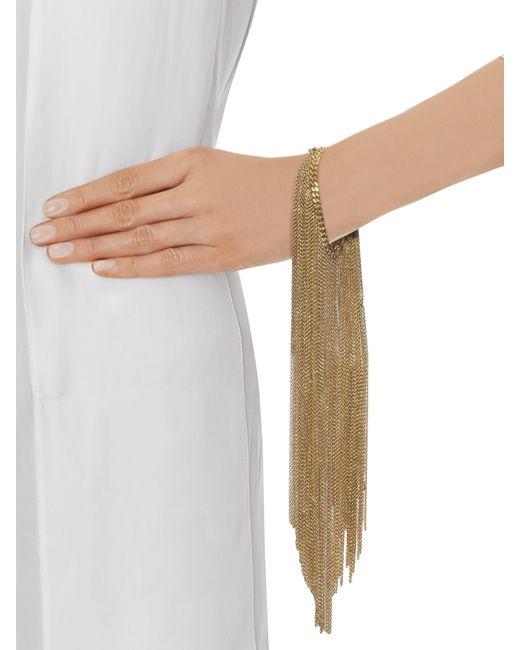 Nina Ricci   Metallic Chain Brass Cuff   Lyst