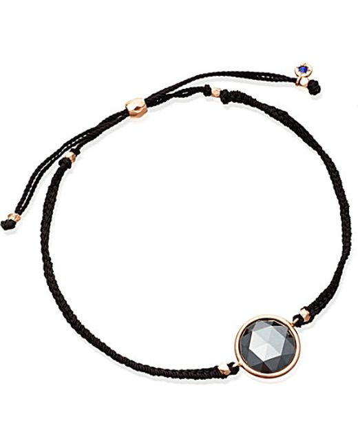 Astley Clarke | Black Hematite Polka 18ct Rose Gold-plated Bracelet | Lyst