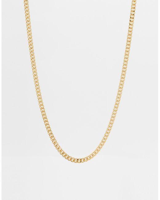 ASOS | Metallic Midweight Chain - Gold for Men | Lyst