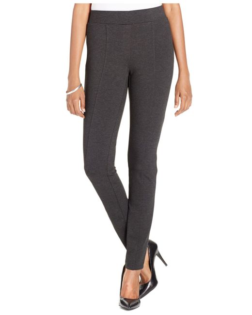 Style & Co. | Gray Petite Stretch Ponte Leggings, Only At Macy's | Lyst