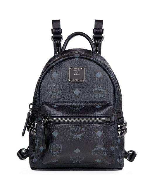 MCM   Blue Stark Side-stud Mini Backpack   Lyst