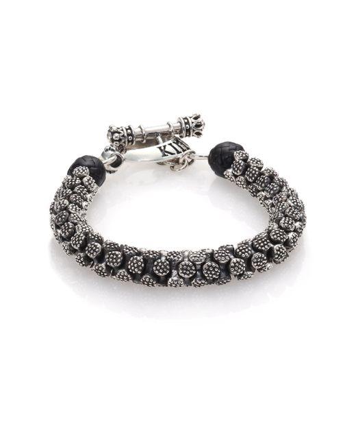 King Baby Studio | Metallic Sterling Silver Stingray Bracelet for Men | Lyst