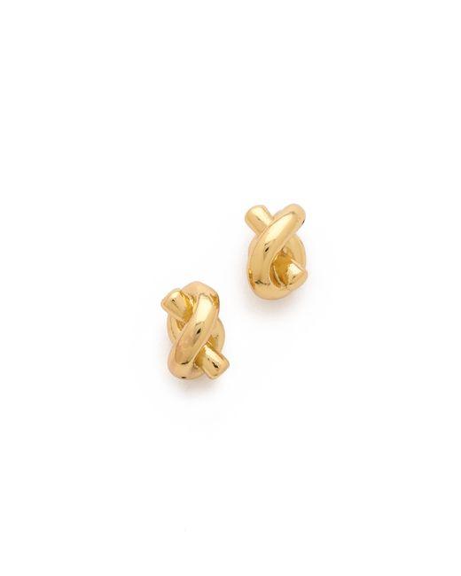 kate spade new york | Metallic Sailor's Knot Stud Earrings | Lyst