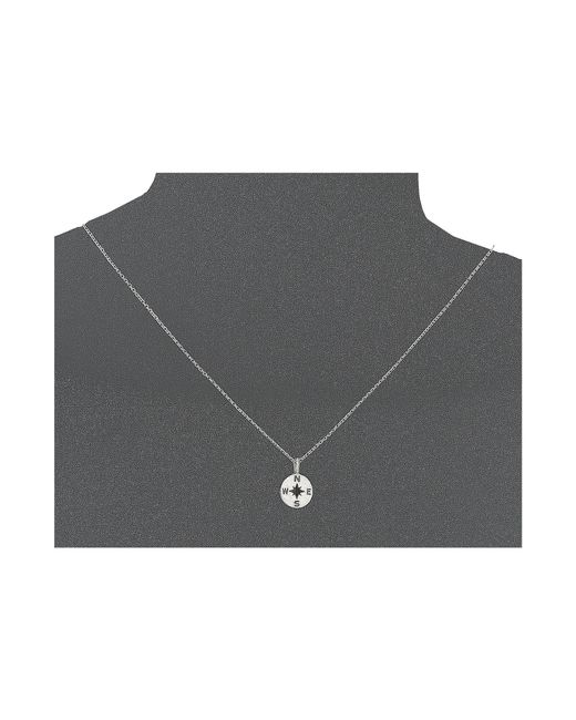 Dogeared | Metallic Going Places Compass Reminder Necklace | Lyst