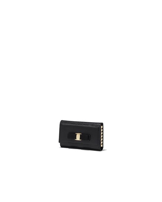 Ferragamo Vara Key Holder in Black - Lyst