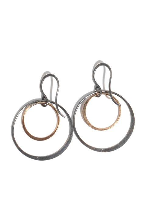 Melissa Joy Manning | Metallic Double Circle Earrings | Lyst