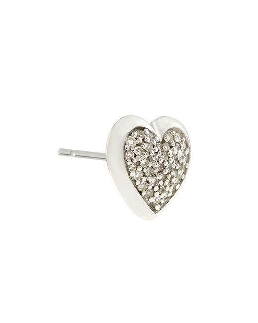 Links of London | Metallic Diamond Essentials Pave Heart Stud Earrings | Lyst