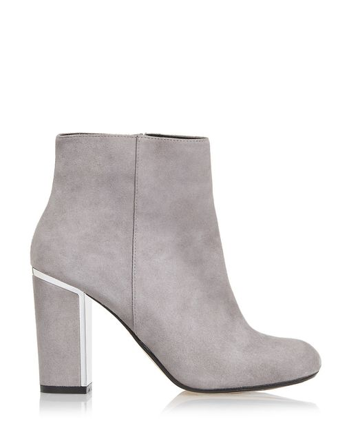 Dune | Gray Otta Suede Ankle Booties | Lyst