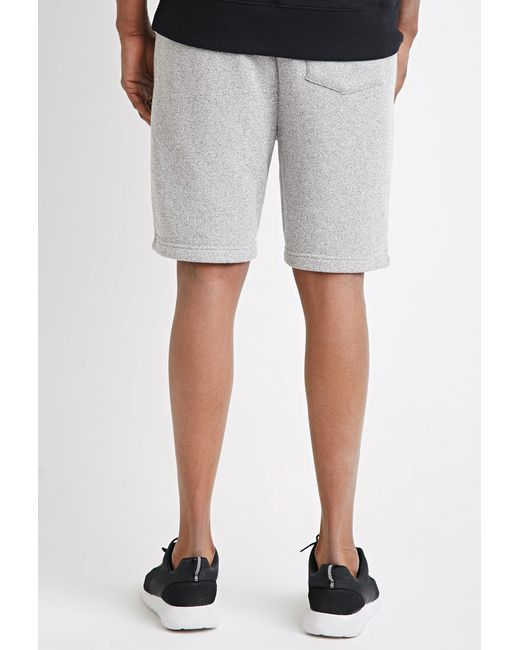 Forever 21 | Gray Marled Drawstring Sweatshorts for Men | Lyst