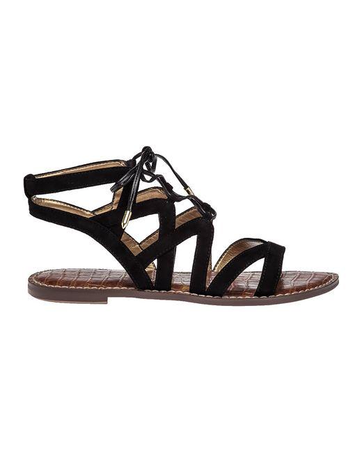 Sam Edelman Gemma Suede Gladiator Sandals In Black Lyst