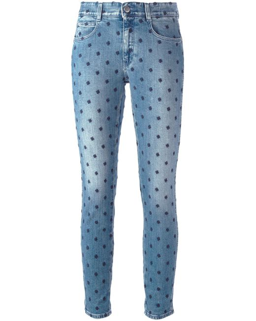 Stella McCartney | Blue Star Skinny Ankle Grazer Jeans | Lyst