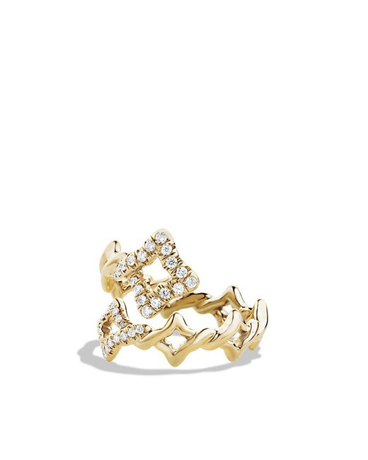 David Yurman | Metallic Ring With Diamonds In 18k Gold | Lyst