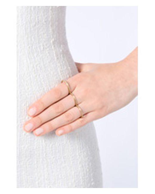 Sophie Bille Brahe   Metallic Gold/diamond Rue De Diamant Triple Ring - Gold   Lyst