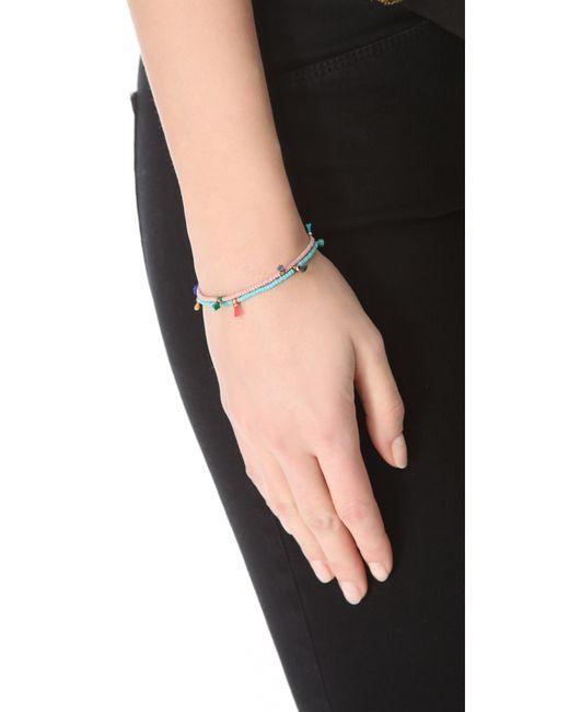Shashi   Blue Lilu Seed Bracelet   Lyst