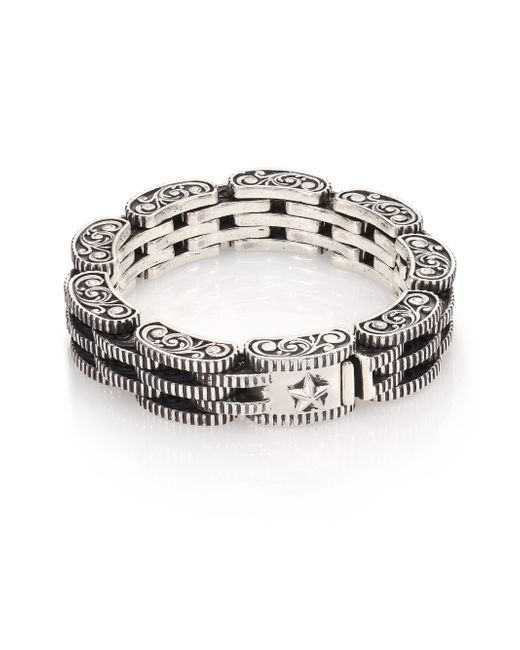 King Baby Studio | Metallic Sterling Silver Rotor Link Bracelet for Men | Lyst