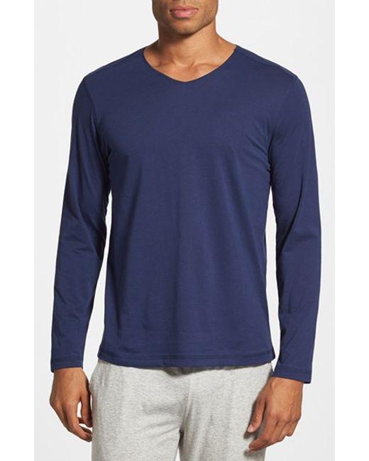 Daniel buchler peruvian pima cotton long sleeve t shirt in for Peruvian cotton t shirts