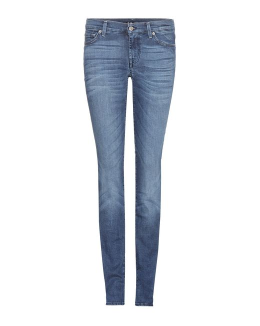 7 for all mankind roxanne skinny jeans in blue save 41. Black Bedroom Furniture Sets. Home Design Ideas
