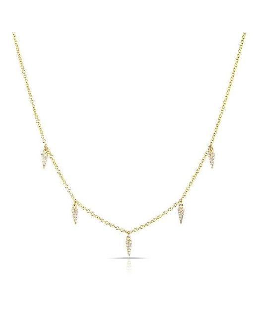 Anne Sisteron - Metallic 14kt Yellow Gold Diamond Sistine Spike Necklace - Lyst