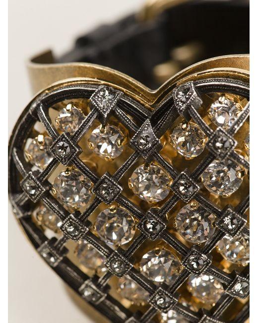 Lanvin | Black Heart Detail Cuff | Lyst
