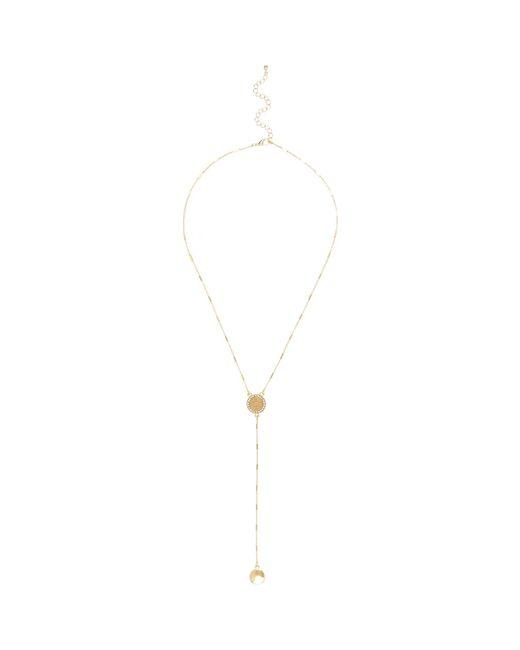 River Island | Metallic Gold Tone Filigree Disc Drop Necklace | Lyst