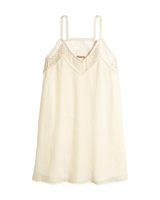 H&M | Beige + Short Dress | Lyst
