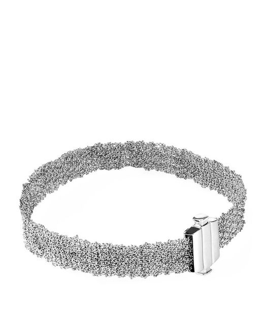 Carolina Bucci | Metallic White Gold Woven Bracelet | Lyst