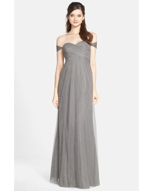 Jenny Yoo | Gray 'willow' Convertible Tulle Gown | Lyst