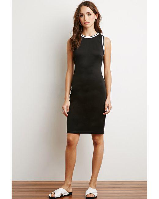 Forever 21 | Black Varsity Stripe-trimmed Dress | Lyst