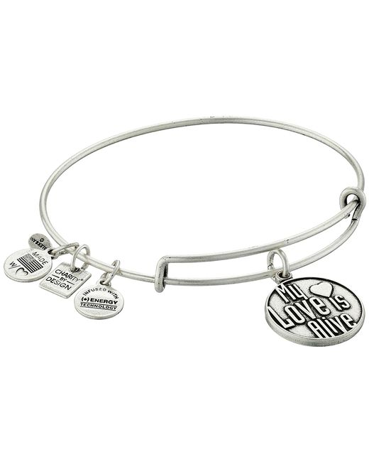 ALEX AND ANI | Metallic Charity By Design My Love Is Alive Charm Bangle | Lyst