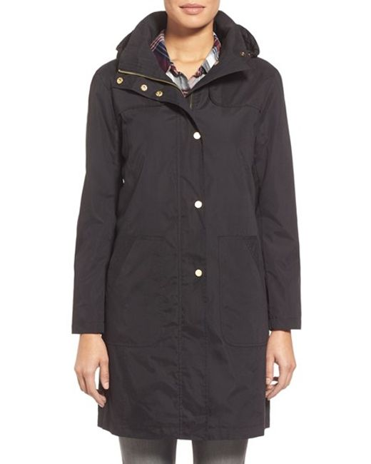 Ellen Tracy | Black A-line Raincoat With Detachable Hood | Lyst