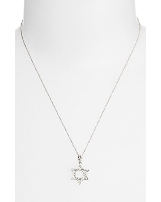 Bony Levy | Metallic Diamond Star Of David Pendant Necklace (nordstrom Exclusive) | Lyst