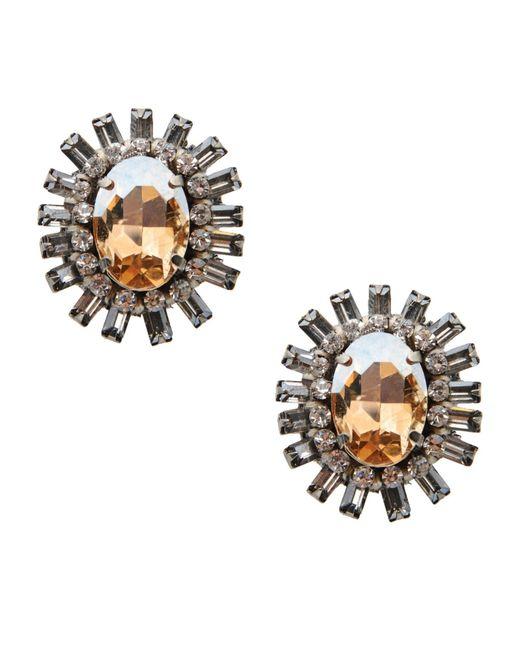 Deepa Gurnani | Yellow Earrings | Lyst