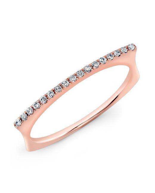 Anne Sisteron   Metallic 14kt Rose Gold Diamond Bar Dome Ring   Lyst