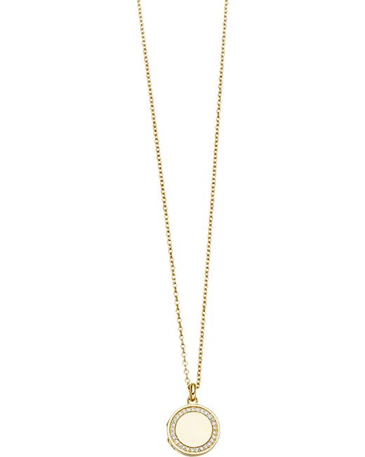 Astley Clarke | Metallic Cosmos 14ct Yellow-gold And Diamond Locket | Lyst