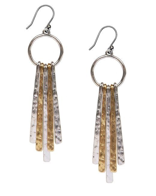 Lucky Brand | Metallic Two-tone Paddle Drop Earrings | Lyst