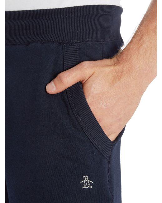 Original Penguin | Blue Tapered Secret Sam Trousers for Men | Lyst