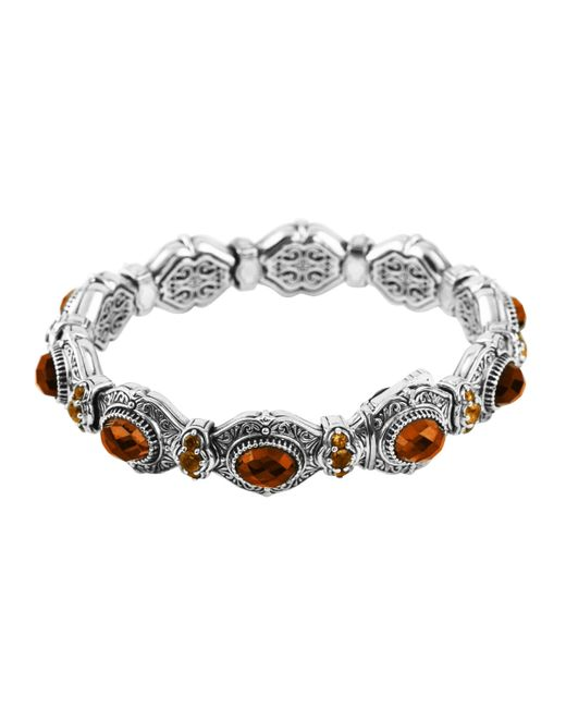 Konstantino | Metallic Sterling Silver Faceted Cognac & Citrine Bangle | Lyst