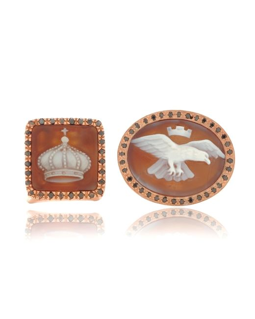 Amedeo | Brown Amedeo Crown Cameo Ring | Lyst