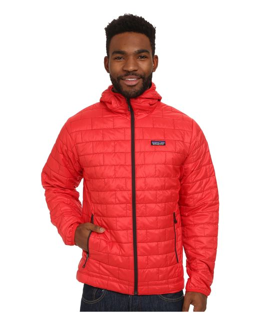 Patagonia | Red Nano Puff® Hoodie for Men | Lyst