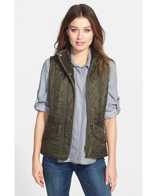 Barbour | Green 'cavalry' Quilted Vest | Lyst